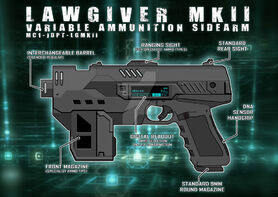 Lawgiver mkii 2012 schematic vector by strangelysaucy-d7xit1y