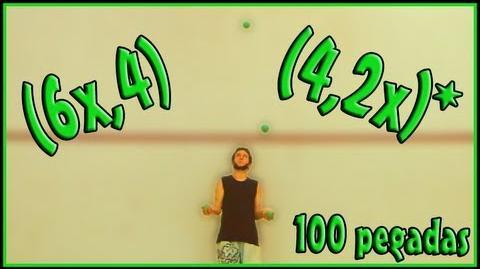 100 pegadas - (6x,4)(4,2x)* - 4 bolas