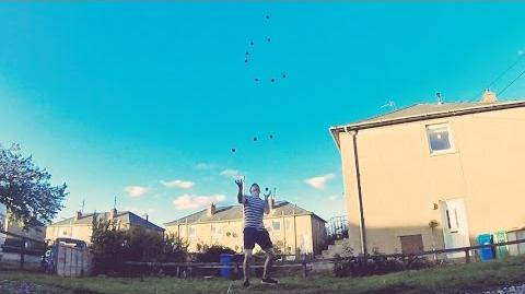 Luke Davies 9,10,11 & 12 ball juggling
