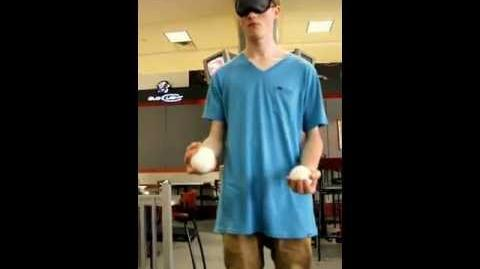 5 balls blindfolded