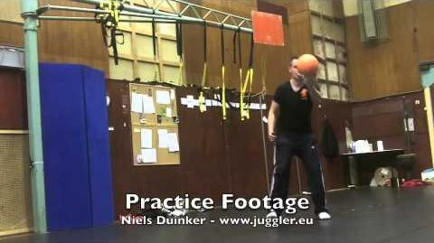 Juggling Practice Footage - Niels Duinker April 2012