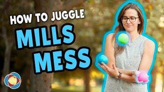 Learn to juggle MILLS MESS - Intermediate Juggling Tutorial