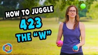 How to juggle 423 and THE W - Beginner Juggling Tutorial