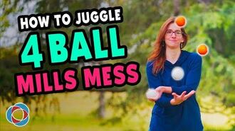 How to juggle 4 BALL MILLS MESS - Advanced Juggling Tutorial