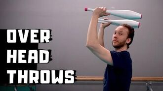 How to juggle OVERHEAD with clubs - Juggling tutorial