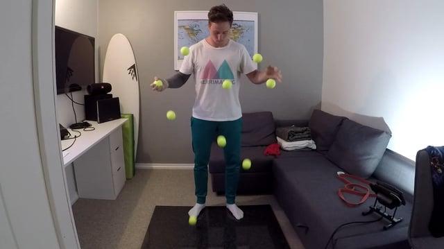 9 balls. Mathias Ramfelt