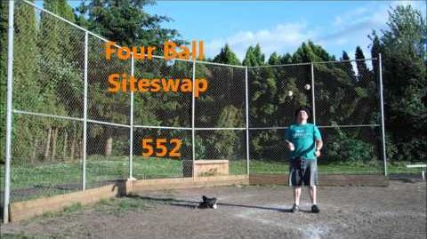 552 ~ Four Ball Siteswap