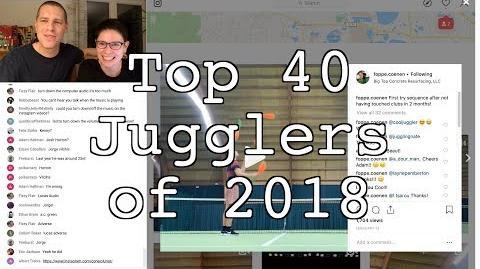 Top 40 Jugglers of 2018 Results