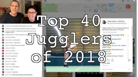 Top 40 Jugglers of 2018 Results
