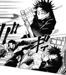 Noritoshi breaks Megumi's tonfa