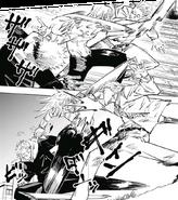 Yuji and Nanami fighting Mahito