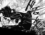 Mahito stabs Yuji