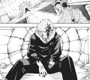 Yuji beaten by special grade curse