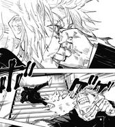Yuji punching Mahito