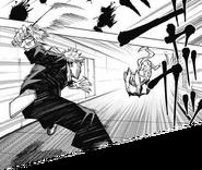 Yuji fights using Slaughter Demon