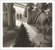 Jumanji Statue