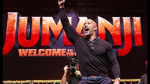 LA Comic Con 2017 Jumanji Welcome to the Jungle (with The Rock)