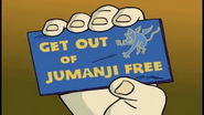 Get Out Of Jumanji Card