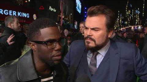 Jumanji Welcome to the Jungle London Premiere - Itw Kevin Hart and Jack Black (official video)