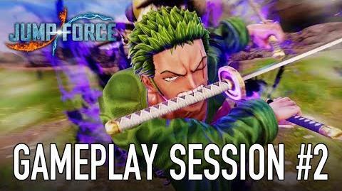 JUMP Force - PS4 XB1 PC - Gameplay Session 2 (Zoro VS Sasuke)