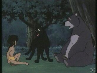 Mowgli, Baloo and Bagheera (Jungle Book Shōnen Mowgli)