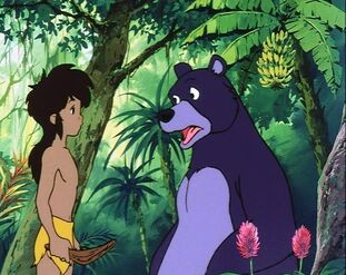 Mowgli and Baloo (Jungle Book Shōnen Mowgli)
