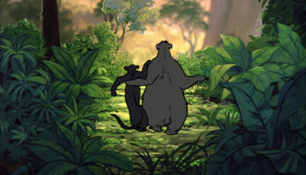 Bagheera The Black Panther and Baloo the Bear both walk off in the end