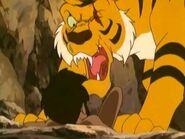 Shere Khan Roaring at Mowgli