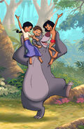 Mowgli is with Shanti Ranjan and Baloo the Bear
