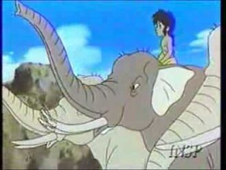 Mowgli, Hathi and the Elephants