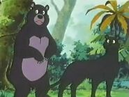 Baloo and Bagheera (Jungle Book Shōnen Mowgli)
