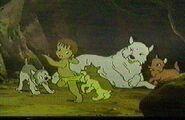 Luri, Mowgli, Akru, Sura and Lala