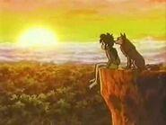 Mowgli and Lala Watching the Sunset