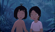 Mowgli and Shanti hear some voices