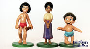 Mowgli Shanti and Ranjan toy figures