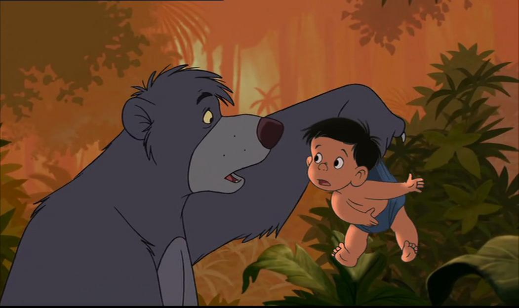 Image - Ranjan is telling Baloo the bear Mowgli and Shanti ...