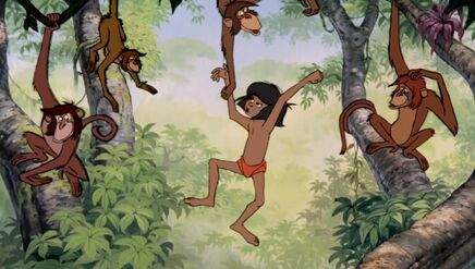 Mowgli Fighting Monkeys The Jungle Book