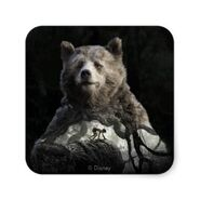 Baloo mowgli the jungle book square sticker-r51a560a7ffd2412bb21d3f74fc144e5b v9wf3 8byvr 398