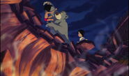 Baloo the Bear has saved Mowgli and Shanti's lifes