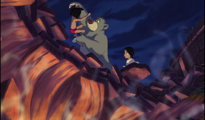 Baloo the Bear has saved Mowgli and Shanti's lifes