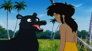Bagheera tells Mowgli to Stand Up
