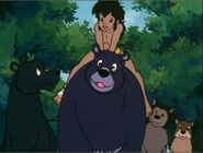 Mowgli, Baloo, Bagheera, Akru and Sura