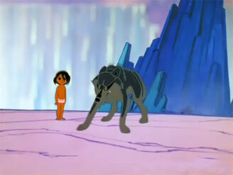 Raksha defending Mowgli