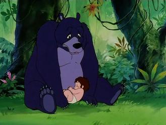 Baloo and Baby Mowgli