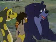 Mowgli, Kaa, Kichi and Baloo
