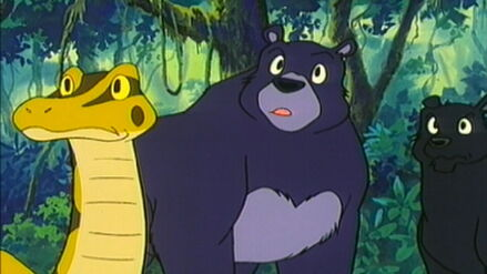 Baloo, Bagheera and Kaa (Jungle Book Shōnen Mowgli)