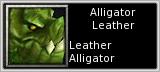 Alligator Leather quick short