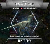 Velociraptor Gen 2 Unlock