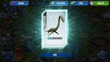 Elasmosaurus in a card pack