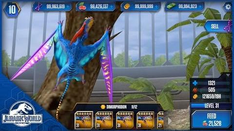 Dimorphodon Feeding Level 31 - Jurassic World The Game